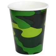 Cups 9oz Army Camo Gear Pk8