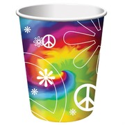 Tye Dye Fun Party Cups - 9oz Pk 8