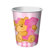 Bears First Birthday Girl 9oz Paper Cups Pk 8