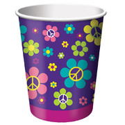 Hippie 9oz Paper Cup - Groovy Girl Party Pk 8