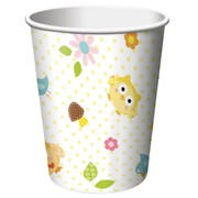 Owl Party Cups - 9oz (266ml) Happi Tree Pk8