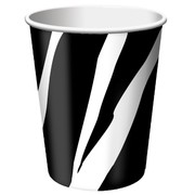 9oz (266ml) Cups Zebra Print Pk8