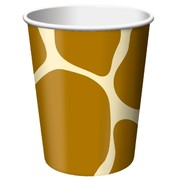 9oz (226ml) Cups Giraffe Print Pk8
