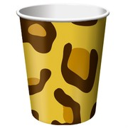 9oz (226ml) Cups Leopard Print Pk8