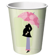 Baby Shower 9oz Paper Cups - Mod Mom Pk 8