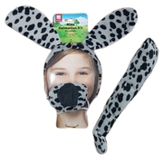 Dalmation Child Costume Set - Ears on Headband, Tail & Nose Pk 1