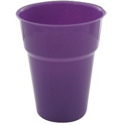 Purple Plastic Cups - 285ml Pk25