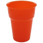 Orange Plastic Cups - 285ml Pk25