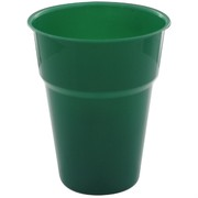 Hunter Green Plastic Cups 285ml Pk25