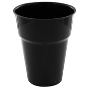 Black Plastic Cups - 285ml Pk25