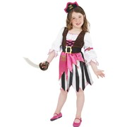 Child Pirate Girl Costume - Medium 7-9 Yrs