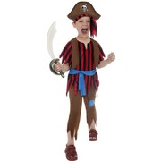 Child Pirate Boy Costume - Medium 7-9 Yrs