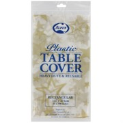 Clear Gold Stars Party Tablecover Pk1