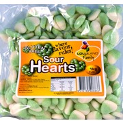 Green Apple Flavour Sour Hearts (1kg)