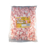 Pink & White Heart Marshmallows (1kg)