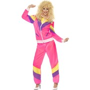 80s Height of Fashion Ladies Shell Suit Costume (Medium, 12-14)