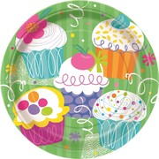 Cupcake Party 9in Plates Pk 8