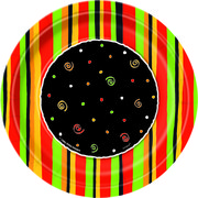 Fiesta Stripes 7in Paper Plates Pk 8