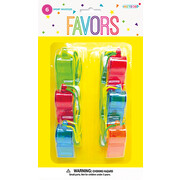 Party Favours - Sports Whistles Pk 6