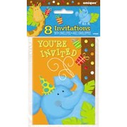 Jungle Party Invitations Pk 8