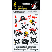 Pirate Fun Tattoo Sheets Pk 2 (2 Sheets of 11 Tattoos)
