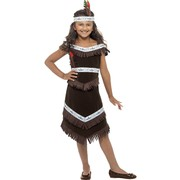 Indian Girl Child Costume (Medium, 7-9 Years) Pk 1