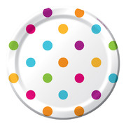 Happy Dots Paper 7in Plates Pk 8