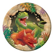 Dinosaur Party Plates - Small 17cm Dino Blast Pk8