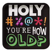Holy Bleep Square Paper Plates (7in-17cm) Pk 8