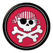 Pirate Parrty! (Boy) Foil Plates (7in-17cm) Pk 8