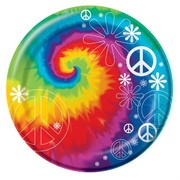 Tye Dye Party Plates - Small 17cm Tye Dye Fun Pk8