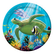 Small Ocean Party Paper Plates 7in Pk 8
