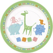 Animal Crackers 9in (23cm) Paper Plates Pk 8
