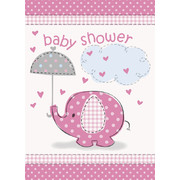 Pink Umbrellaphants Invitations Pk 8