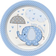 Blue Umbrellaphants 7in Paper Plates Pk 8