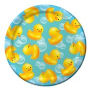 Bubble Bath Duck 7in Paper Plates Pk 8