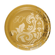 50th Anniversary Paper Plates Small Pk 18