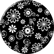 Cosmic Flowers Party Plates - Small 17cm Pk8