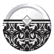 Small Damask Paper Plates - Ever After 7in Pk 8