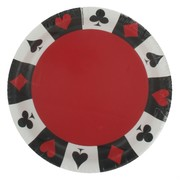 Card Night Party Plates - Small 17.1cm Pk8