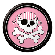 Pirate Parrty! (Girl) 7in-17cm Foil Plates Pk 8