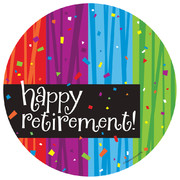 Milestone Happy Retirement Paper Plates (7in-17cm) Pk 8