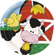 Farm Friends Paper Plates (7in) Pk 8
