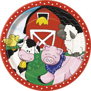 Farm Friends Paper Plates (9in) Pk 8