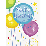 Birthday Pops Invitations Pk 8