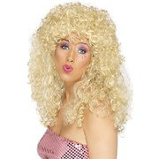 Boogie Babe Long Blonde Curly Wig Pk 1