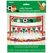 Classic Sports Cake Banner Decoration (16.5cm) Pk 1