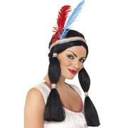 Long Black Indian Princess Wig Pk 1
