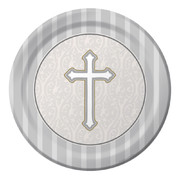 Devotion Christening Paper Plates (9in-22cm) Pk 8
