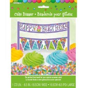 Candy Party Cake Banner Decoration (16.5cm) Pk 1